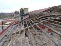 Niemcy praca na budowie – rozbiórka dachu, Norymberga