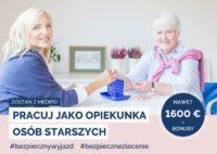 Od zaraz praca w Niemczech dla opiekunki osób starszych do Pani 90 l. z Düsseldorf