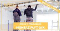 Monter płyt GK oferta pracy w Niemczech na budowie regipsy – Dortmund